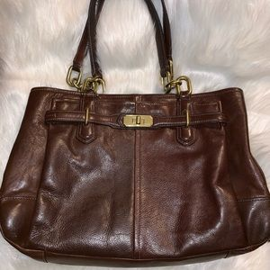 Vintage Brown Leather Coach Bag